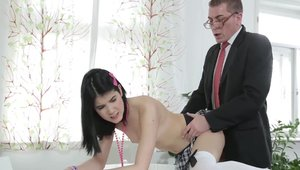 Teacher Lady Dee pounding