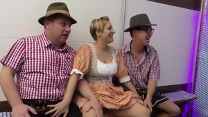 Shaved deutsch stepmom goes for extreme group sex HD