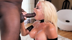 Plowing hard in the company of busty mature