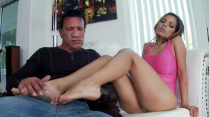 Stepmom Yurizan Beltran fetish footjob