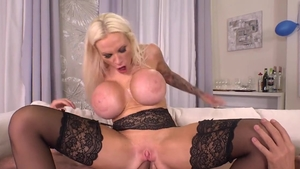 Raw plowing hard in company with Angel Wicky