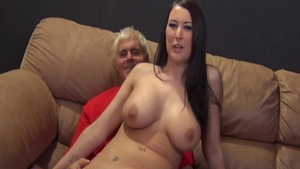 Stunning busty friend Alexis Grace rough pussy fucking