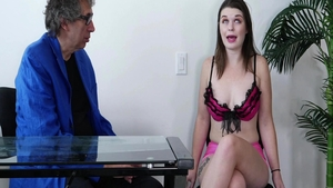 Young Anastasia Rose really enjoys hard ramming