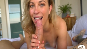Blonde haired Lily Love hardcore POV blowjob