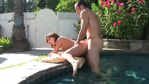 Brunette Ashley Coda blowjob
