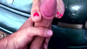 POV feet fetish along with incredible MILF