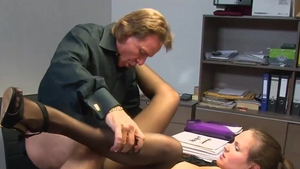 Big butt german secretary goes for rough nailing in HD