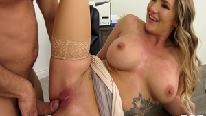 Huge tits super hot american babe Cali Carter pussy eating