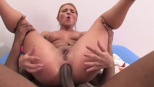 Reverse cowgirl with tight russian chick