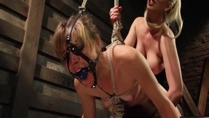 Blonde babe Cherry Torn & small boobs Mona Wales gagging
