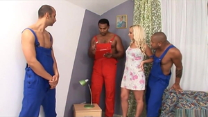 Horny mature surprise cuckhold gangbang in HD
