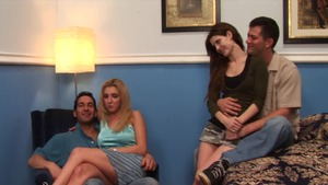 Big tits brunette Jenni Lee foursome wife swap HD