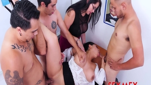 Busty latina teacher Pamela Rios craving gangbang