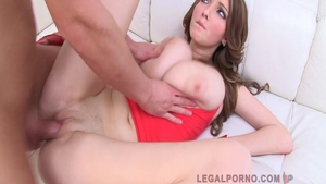 Large tits babe Lucie Wilde need gets group sex