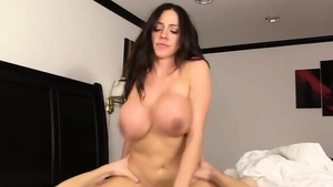 Large boobs brunette cumshot