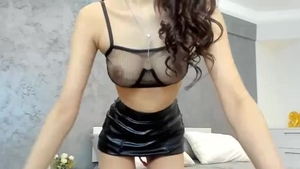 Asian amateur fingering on webcam