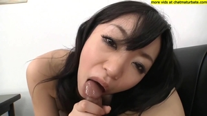 Plowing hard with large boobs japanese brunette
