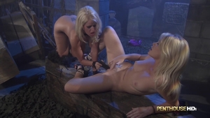 Blonde haired Alexis Ford fun with toys sex video in HD