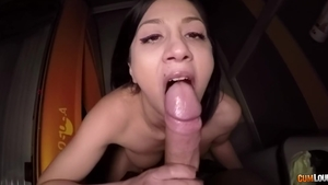 Brunette Penelope Cum POV does what shes told in HD