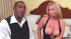Creampie at the casting accompanied by large tits mature