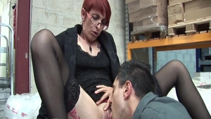 Passionate french chick pussy eating in HD