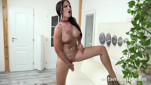 Isabel Dark playing with toys