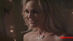 'SillyThots.com - Two sexy blond MILFs Bring Each Other To orgasm'