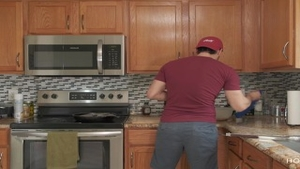 'fucking AND COOKING! throbbing latin chick Wife gets slammed whilst The spouse Cooks'