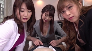 Japanese student group sex in office HD