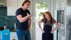 Handjob in the kitchen with acrobatic teen chick Madi Collins