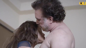 Kissing each other accompanied by big ass asian stepmom