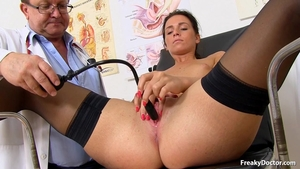 Very sexy czech doctor pussy fuck in the hospital