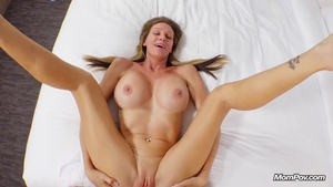 Creampied in company with stepmom