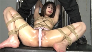 Exotic woman japanese fucks with big dildo