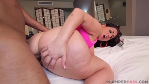 Hard fucking in company with big butt latina pawg