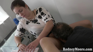 Blowjob in company with hairy american BBW