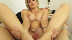 Blonde babe Cory Chase sucking dick porn
