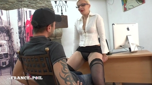 Ass licking in office hawt french in sexy stockings