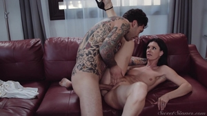 Hot Egyptian MILF India Summer feels up to raw sex