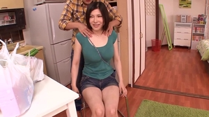 Cumshot with hairy big boobs japanese mature Anri Okita