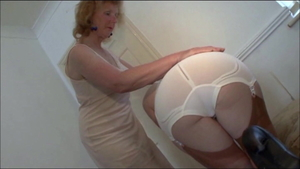 European MILF Satine Spark wearing pantyhose masturbation