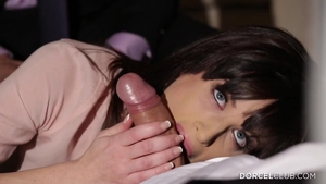 Very hot Ava Courcelles anal double in lingerie