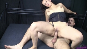 Cumshot at the casting very small tits czech