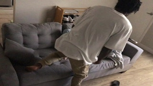 Big butt pawg interracial sex on the couch in HD