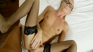 Cumshot starring secretary wearing glasses