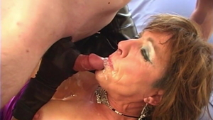 Creampied together with busty slut