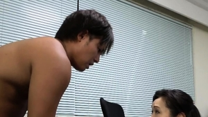 Japanese mature fingering in public