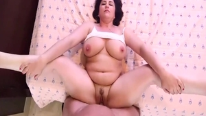 Large tits hot amateur POV sucking dick