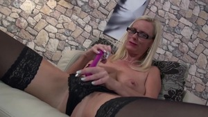 Deutsch busty teacher masturbating solo