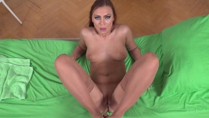 European in tight stockings missionary fucking